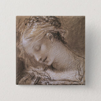 Head of the Virgin 15 Cm Square Badge