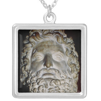 Head of Zeus Silver Plated Necklace