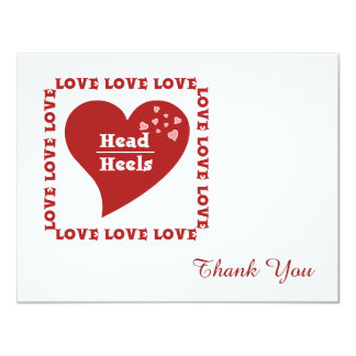 Head Over Heels In Love Thank You Invitations