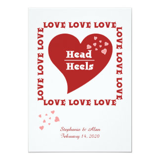 Head Over Heels in Love Wedding Invitations