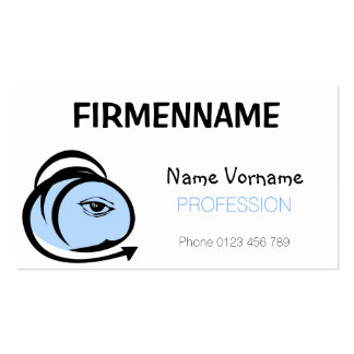 head pack of standard business cards