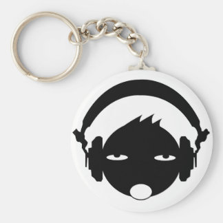 head phone basic round button key ring