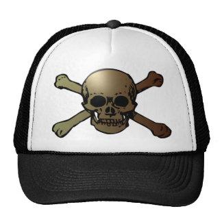 head skull crossed bones crossed bones mesh hats