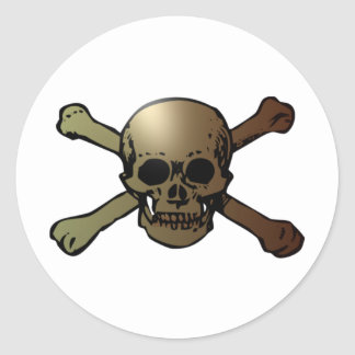 head skull crossed bones crossed bones round sticker