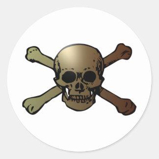 head skull crossed bones crossed bones stickers