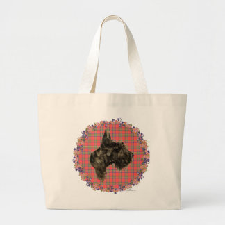 Head Study on Tartan Canvas Bag