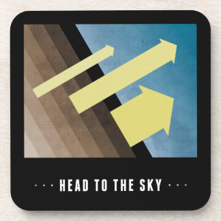 Head To The Sky Beverage Coasters