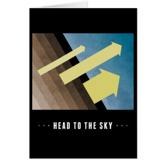 Head To The Sky Greeting Card