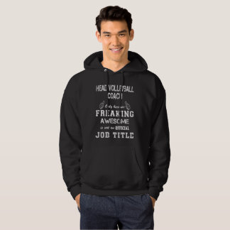 Head Volleyball Coach Hoodie