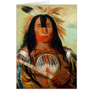 Head war chief of the Blood Indians Greeting Cards