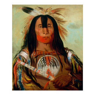 Head war chief of the Blood Indians Print