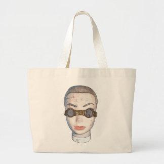 head with goggles jumbo tote bag