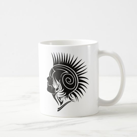Head with Mohawk Coffee Mug