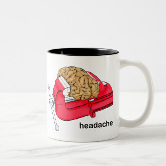 Headache Two-Tone Coffee Mug