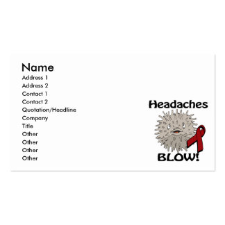 Headaches Blows Awareness Design Pack Of Standard Business Cards