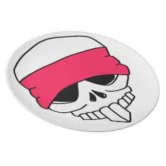 Headbanded Skull Plate