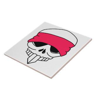 Headbanded Skull Tile