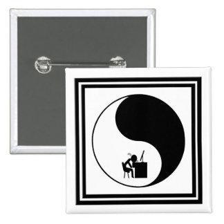 Headdesk Icon 15 Cm Square Badge