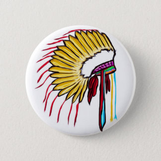Headdress 6 Cm Round Badge