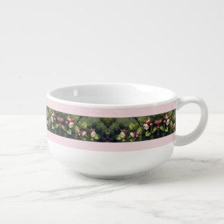 Heade Apple Blossom Flowers Floral Trim Bowl Soup Mug