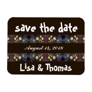 Heade Daisy Flowers Save Date Magnet