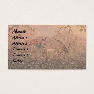 Heade Hummingbird Bird Animals Nest Business Card