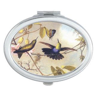 Heade Hummingbird Bird Butterfly Compact Mirror