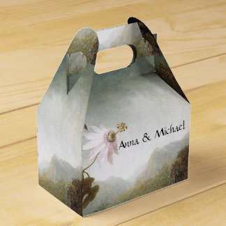 Heade Hummingbird Bird Passion Flowers Favor Box Wedding Favour Box