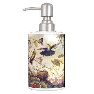 Heade Hummingbird Birds Animals Flower Bath Set