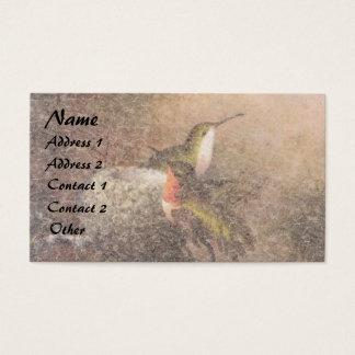 Heade Hummingbird Birds Animals Nest Business Card
