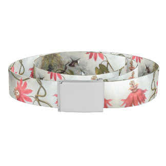 Heade Hummingbird Birds Passion Flowers Belt