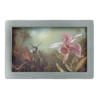 Heade Hummingbirds Orchid Flowers Belt Buckle