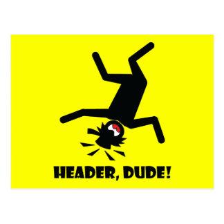 HEADER DUDE 10 POSTCARD
