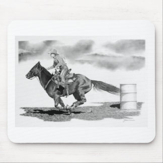 Headin for Home Barrel Racer Mouse Pad