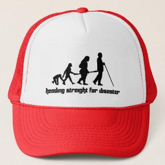 Heading straight for disaster trucker hat
