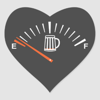 heading to beer pump heart sticker
