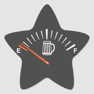 heading to beer pump star sticker