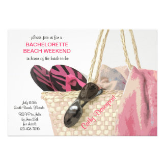 Heading to the Beach Bachelorette Party Invitation