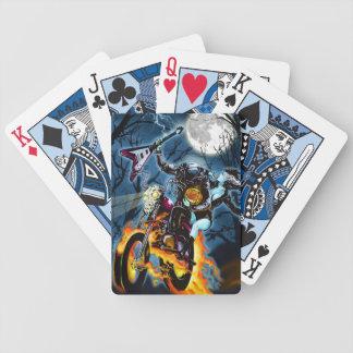 Headless Biker Horseman Bicycle Poker Cards