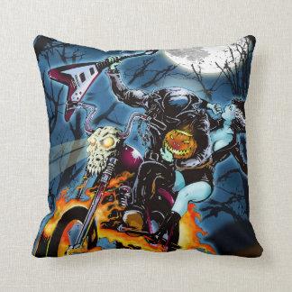Headless Biker Horseman Throw Pillows