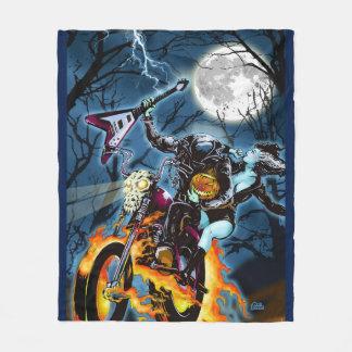 Headless Biker Horseman Fleece Blanket