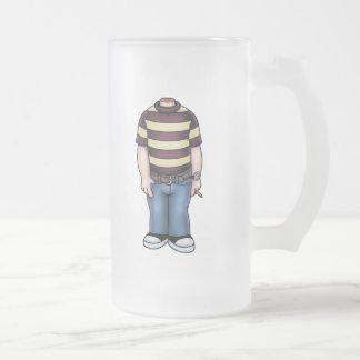 headless-boy-T Frosted Glass Mug