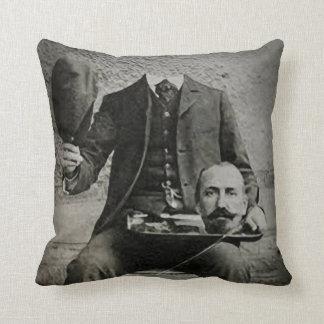 Headless Chap, Creepy Portrait Throw Pillow Throw Cushion