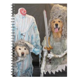 Headless Ghost Golden Retrievers Note Books