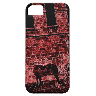 Headless horse in front of old cathedral barely there iPhone 5 case