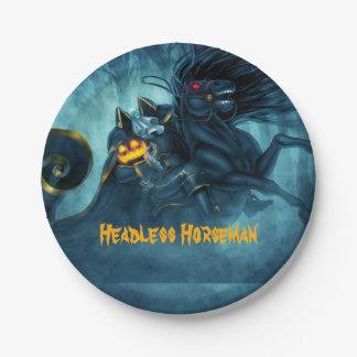 Headless Horseman Halloween paper plate 7 Inch Paper Plate