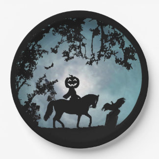 Headless Horseman Halloween Party Paper Plates 9 Inch Paper Plate