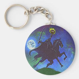 Headless Horseman in the Blue Light Basic Round Button Key Ring