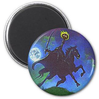 Headless Horseman in the Blue Light Fridge Magnets