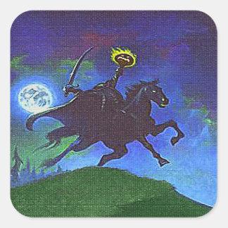 Headless Horseman in the Blue Light Square Sticker